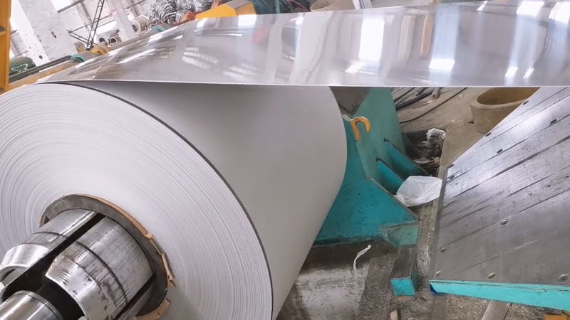Cutting process for stainless steel 2B coil