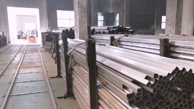 Warehouse for stainless steel bright surface pipe