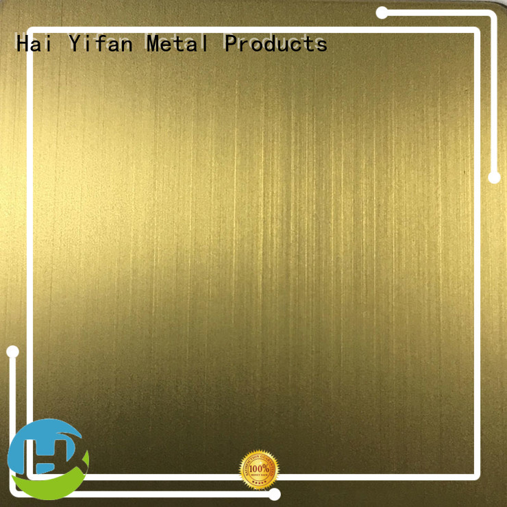 HYF colored 304 stainless steel sheet company for shipbuilding